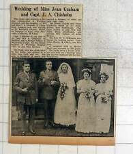 1949 Wedding Of Miss Jean Graham And Captain Ja Chisholm, Heene