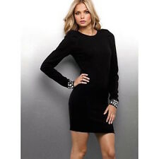 VICTORIA'S SECRET MERINO WOOL STONE EMBELLISHED SWEATERDRESS DRESS XL XLARGE