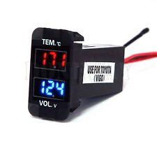 40x20mm LED Digital Voltmeter Temperature Meter Voltage & Temp Gauge For Toyota