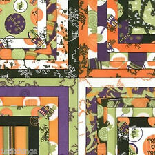 RARE Moda Chic or Treat 34 piece 5X5 Charm Pack Quilt Squares OOP! Halloween