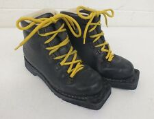 Asolo Snowpine Padded Black Leather 3-Pin Nordic Norm Telemark Boots 5.5/36 2/3