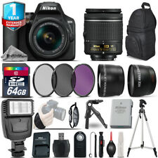 Nikon D3500 DSLR Camera + 18-55mm VR + 1yr Warranty + Filters + 64GB -Saving Kit