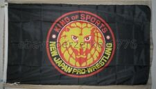 New Japan Pro-Wrestling King of Sports 3'x5' black flag banner - WCW, WWF, WWE