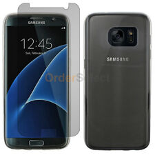 NEW Soft Slim Case+LCD Screen Protector for Android Samsung Galaxy S7 Edge Clear