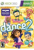 Nickelodeon Dance 2 Xbox 360 Kids Kinect Game Dora The Explorer Workout Dancing