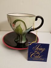 "Icing On The Cake ""Poppy Teacup and Saucer"" Blue Sky Van Group #Bjm3011865"