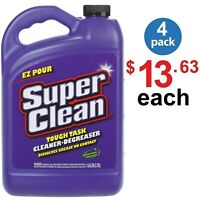 SUPER CLEAN Heavy Duty Biodegradable, Degreaser Grease Dissolve 1 Gal - (4 Pack)