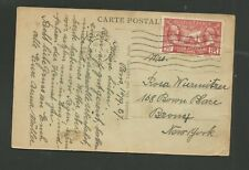 1927 PARIS POST CARD USED TO NEW YORK