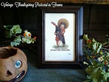 Antique 1907 Thanksgiving Postcard Child Holding Turkey in Frame Ullman Co #2131