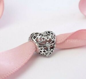 Pandora Heart Charm Promise of Spring Sterling Silver S925 ALE Authentic New