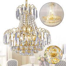 Luxury K9 Crystal Chandelier Modern Flush Mount Ceiling Light Lamp Fixtures Home