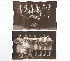 2 Vintage Fotos, Konvolut, Hochzeit, wedding, Zylinder, Brautpaar,  20er / 30er