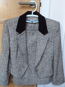 Gucci Jacket Skirt Suit Brown Mix Boucle Wool 10/12 Excellent Vintage Condition