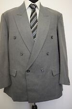 """MS196 MEN'S GREY DOUBLE BREASTED 2 PIECE SUIT CHEST 42  W38""""  L29"""""""