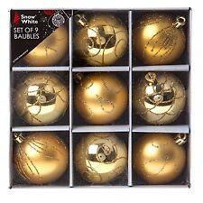 BIANCANEVE infrangibili decorazione albero di Natale - 9 CONF. 60 mm palline Oro