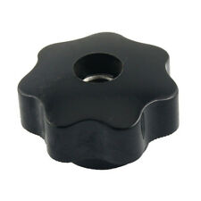 M10 10mm Dia Thread Black Plastic Star Head Clamping Knob Grip WS