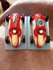 Hotwheels Wooden Bookends