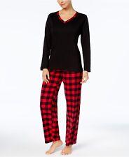 0aa147fc7f Charter Club Flannel Mix It Top   Printed Pants Pajama Set Size XS Buffalo  Check