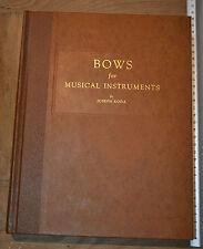 Arcos para instrumentos de música Joseph Roda 1959 Primera Ed.