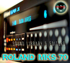 for Roland Mks-70 Original Factory and New Created Sound Library & Editors on Cd