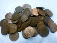 20 Assorted British Half Cents Penny Collection     #20BHPC