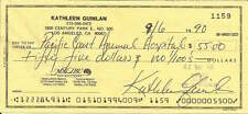 Kathleen Quinlan authentic signed autographed personal bank check