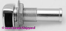 Marine Boat 5/8 inch Gas Fuel Tank Vent 5/8 Barb Chrome Plated Zinc