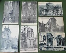 Vintage Postcards x 7 PPC, Cartes Postales, Chambery France, Elephant Fountain