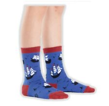 Sock It To Me Ship Shape Youth Crew Socks Sail Boats Nautical Children Ages 3-6