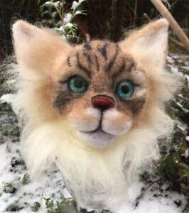 Ragdoll cat - Handmade Needle Felted Pet Animal Sculpture Unique Cat Lover Gift
