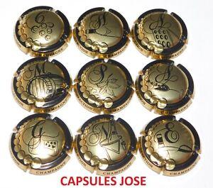 Série de 9 Capsules de champagne GENERIQUE (Puzzle Champagne)