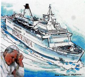 Croatia Trip / Travel Pope John Paul II Vatican Envelope PA513