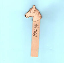 Personalised BOOKMARK Wood Horse Pony Nancy Nessie Name Birthday Gifts Her