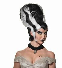 Lady Monster Bride of Frankenstein Wig Adult Costume Accessory, Black/White