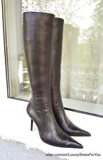 GIANMARCO LORENZI Black Leather Boots gr. EUR 38