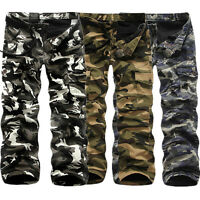 Military Men's Cotton Cargo Pants Combat Camouflage Camo Army Long Trousers Soft
