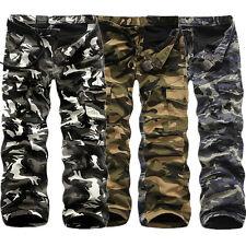 Casual Men's Fleece Winter Warm Military Army Cargo Combat Camo Trousers Pants