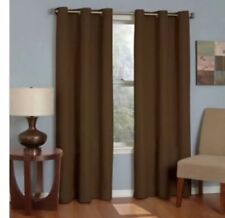 """Eclipse Thermaback Microfiber Grommet Blackout Curtain Panel-Chocolate-42""""x63"""""""