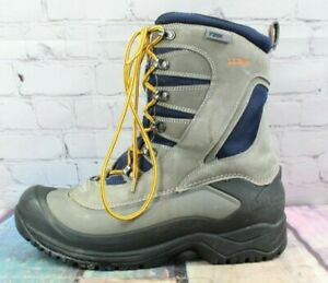 LL BEAN Men's Gray Snow Sneaker Waterproof Insulated Mid Suede Boots Size 10 M