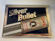 Coors Light Vintage Silver Bullet Mirrored Sign (1987) 🇺🇸