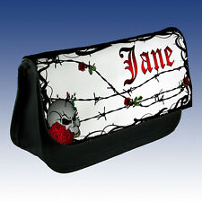 Personalised goth design make up bag choice of colours