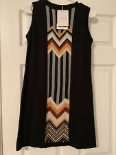 MISSONI For Target Women's Dress Black Sleeveless Knit Sweater Size XS 20th
