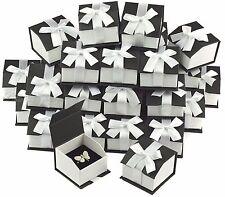 Black Ring Gift Boxes for Ring Boxes Wholesale Ring Box Magnetic Ribbon Box 36Pc