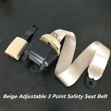 880mm-1370mm Adjustable Beige 3 Point Seat Belt Lap & Diagonal Belt Polyester