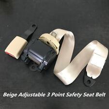 880mm-1370mm Adjustable Beige 3 Point Seat Belt Lap & Diagonal Belt Polyester