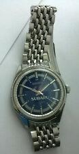 RARE Vintage SUBARU Seiko 17j Wrist Watch 66-7109 with Beads of Rice Band Japan