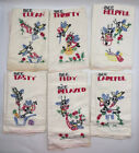 Seven Days of the Week Bumble Bee Embroidered Hand Towels   R