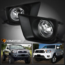 2012-2015 Toyota Tacoma Clear Bumper Driving Fog Lights+Switch Left+Right