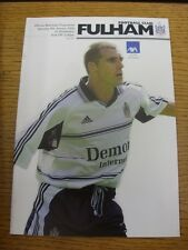 08/01/2000 Fulham v Wimbledon [FA Cup] . Item appears to be in good condition un