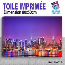 80x50cm - TOILE IMPRIMÉE - TABLEAU MODERNE DECORATION MURALE - NEW YORK - NY-02T